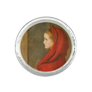 Capa con capucha roja por Millais Anillos Con Foto