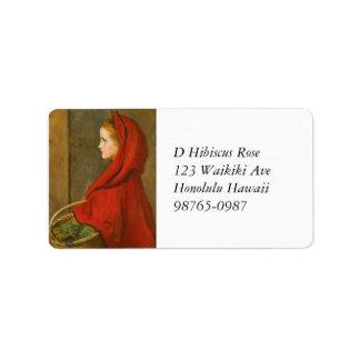 Capa con capucha roja por Millais Etiqueta De Dirección