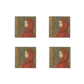 Capa con capucha roja por Millais Imán De Piedra