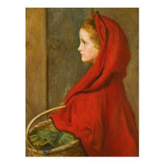 Capa con capucha roja por Millais Postales