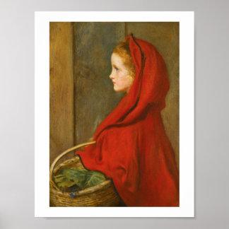 Capa con capucha roja por Millais Póster