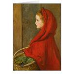 Capa con capucha roja por Millais Tarjeta
