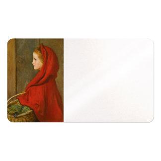 Capa con capucha roja por Millais Tarjetas De Visita