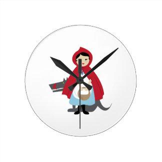 Capa con capucha roja relojes