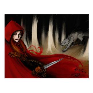 Capa con capucha roja postal
