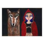 Capa con capucha roja y el lobo fotografía