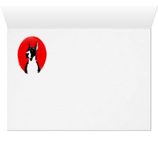 Capa cosechada great dane tarjeta de felicitación