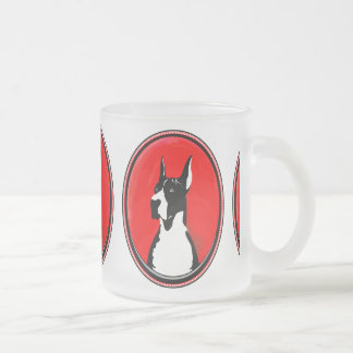 Capa cosechada great dane taza de café esmerilada