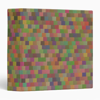 """Capa cuadrada en colores pastel del modelo geométr carpeta 1 1/2"""""""