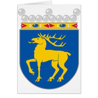 Capa de Åland del HACHA del brazo Tarjetón