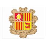 Capa de Andorra del brazo Postales