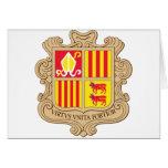 Capa de Andorra del brazo Tarjetas