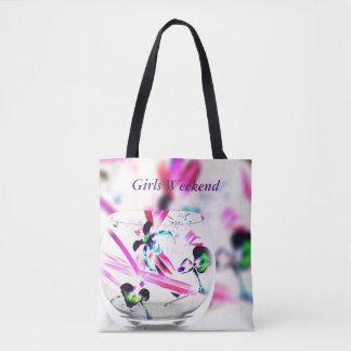 "Capa de cristal ""fin de semana de las orquídeas bolsa de tela"