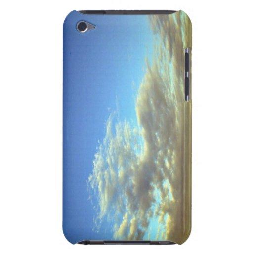 Capa de la nube del oro y cielo azul Case-Mate iPod touch carcasas