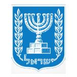 capa de los israel_armoiries del brazo tarjetas publicitarias