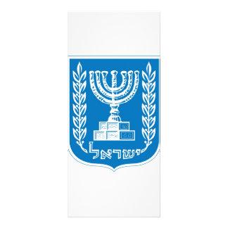 capa de los israel_armoiries del brazo diseño de tarjeta publicitaria
