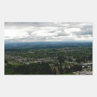Capa de nubes pegatina rectangular