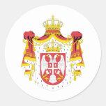 Capa de Serbia del arma Pegatina Redonda