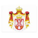 Capa de Serbia del arma Postales