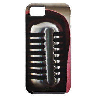Capa del micrófono del vintage iPhone 5 Case-Mate cárcasas