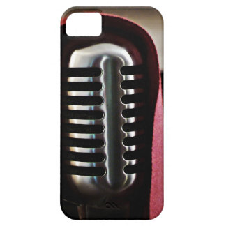 Capa del micrófono del vintage iPhone 5 Case-Mate fundas