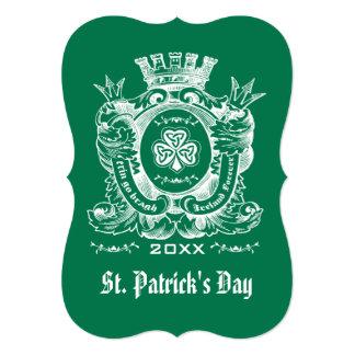 Capa del trébol de las invitaciones del día de St Invitación 12,7 X 17,8 Cm