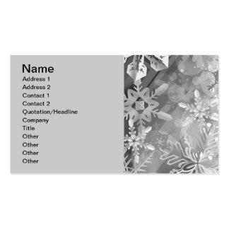 capa digital del realismo del invierno gris de los tarjeta de visita
