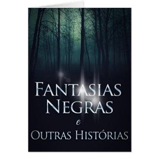 """Capa do livro """"Fantasias Negras"""" por Joel Puga Card"""