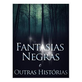 """Capa do livro """"Fantasias Negras"""" por Joel Puga Postcard"""