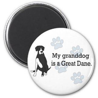 Capa great dane Granddog Imán Redondo 5 Cm