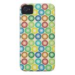 Capa iPhone4 light - Círculos Multicoloridos Capa De iPhone 4 Case-Mate