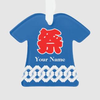 Capa japonesa azul de Happi del festival
