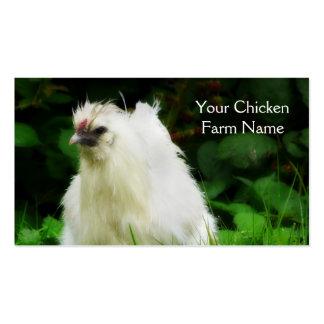 Capa libre de la gama de la granja de pollo o tarjetas de visita