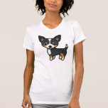 Capa lisa tricolora negra de la chihuahua camiseta