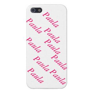 capa personalizada com nome próprio Paula Case For iPhone SE/5/5s