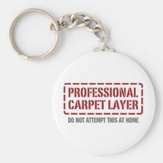 Capa profesional de la alfombra llavero redondo tipo pin