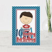 Capable Boy with Walker - Happy 10th Birthday Card