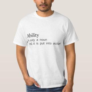 capacidad camisas
