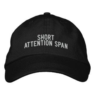 Capacidad de concentración corta gorras de beisbol bordadas