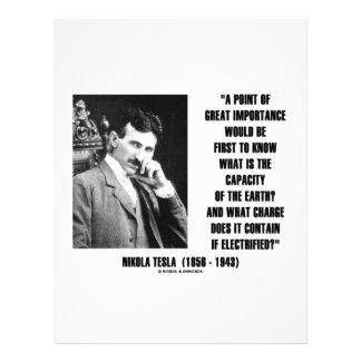 Capacidad de Nikola Tesla de la carga de la tierra Membrete A Diseño