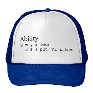 capacidad gorras