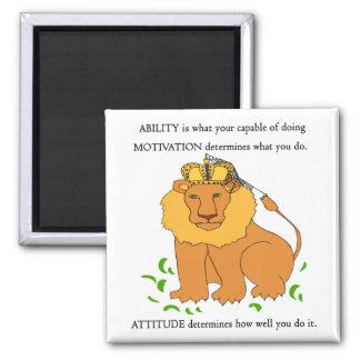 Capacidad - motivación - actitud imán cuadrado