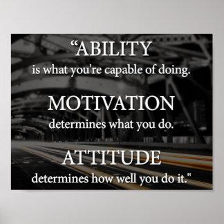 Capacidad, motivación, actitud póster