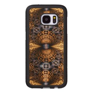 Capacitorium Futuristic Abstract Pattern Wood Samsung Galaxy S7 Case