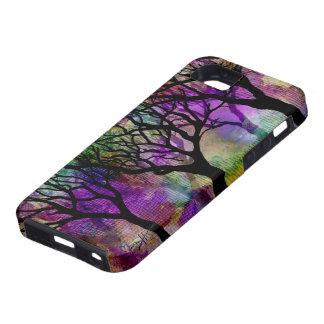 Capas de árboles en fondo de la mica funda para iPhone 5 tough