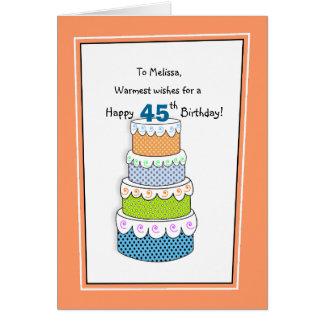 Capas de deseos 45.os o de cualquier cumpleaños de tarjeton