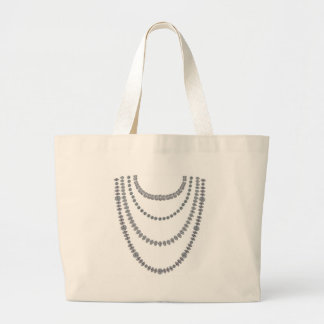 Capas de diamantes bolsa de tela grande