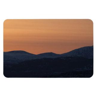 Capas de la puesta del sol imán rectangular