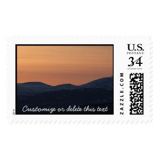 Capas de la puesta del sol; Personalizable Sellos Postales