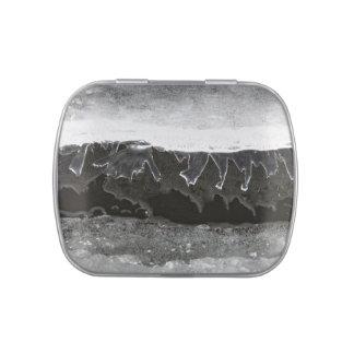 Capas del hielo jarrones de dulces